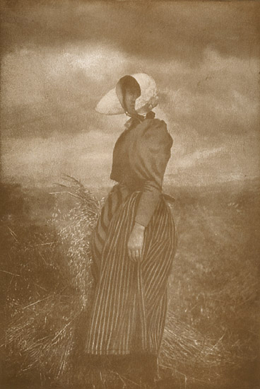 M. M. Bucquet - Before the Wheat (Peasant Woman with a Sheaf of Grain)