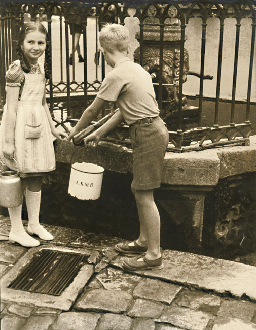 Dr. Leonard Buschman - Children Fetching Pails of  Water