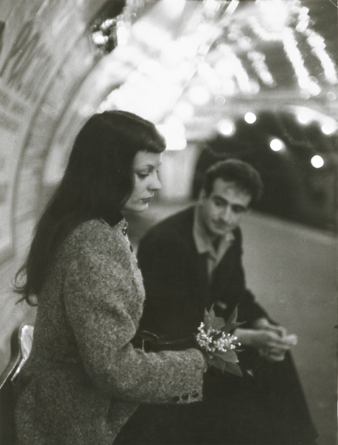 "Robert Doisneau - ""Le Muguet du Métro"" (Marc and Christiane Chevalier in the Paris Metro)"