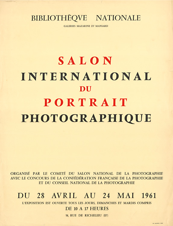 Doisneau, Man Ray, Tabard, Boubat, Weiss, Klein, Varda, etc. - Poster for the Salon International du Portrait Photographique