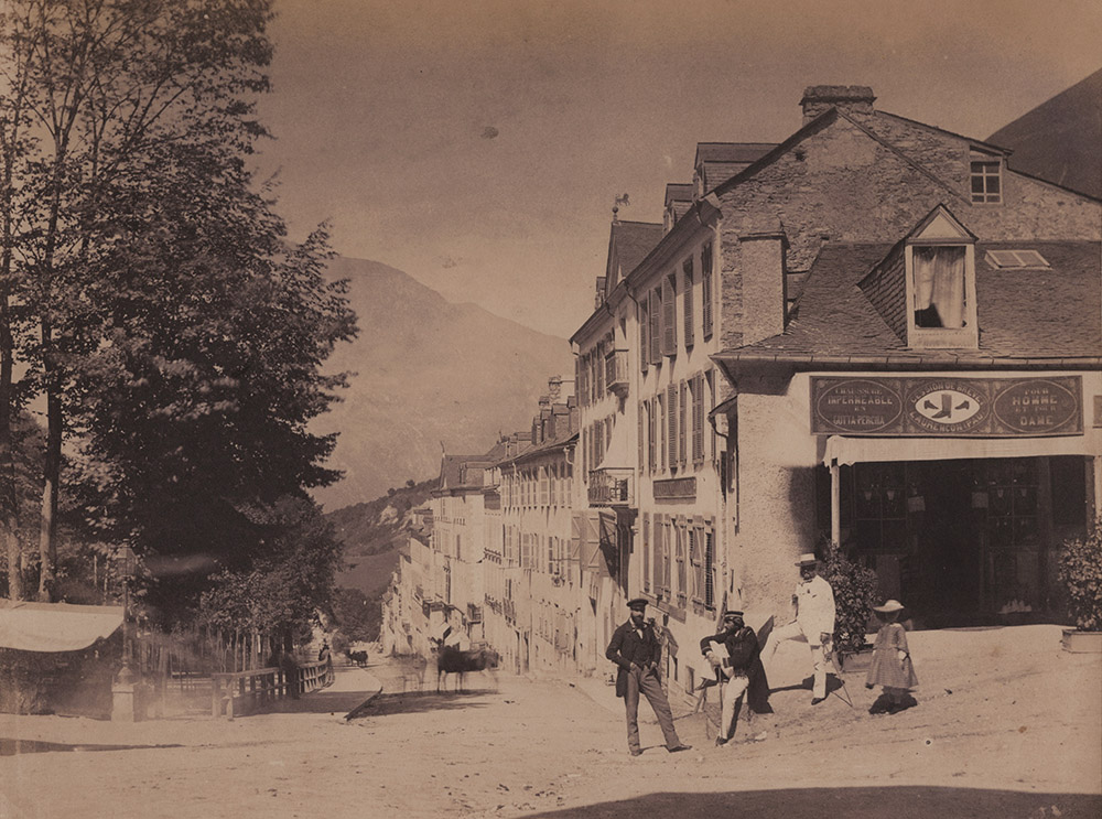 Jean-Jacques Heilmann - The Grand street of Eaux-Bonnes, Pyrenees-Atlantiques, France