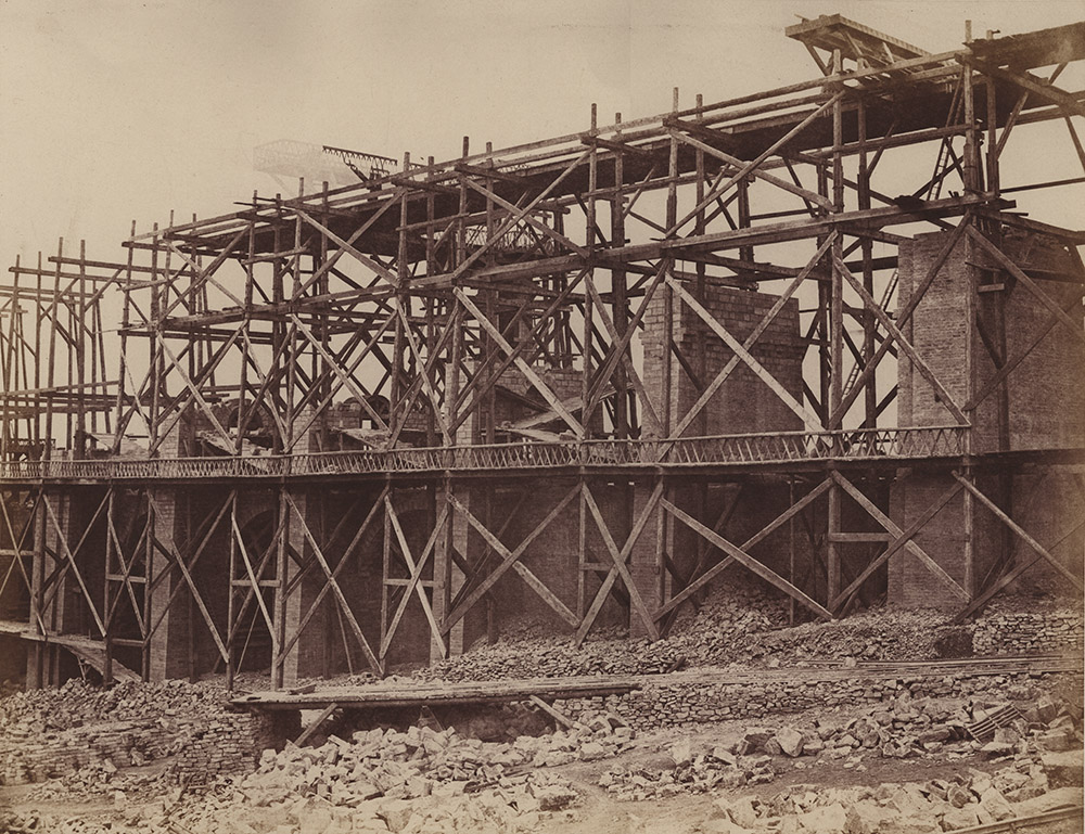 Edouard Baldus - Construction of a Viaduct on Rail Line of Chemin de Fer Paris-Marseille