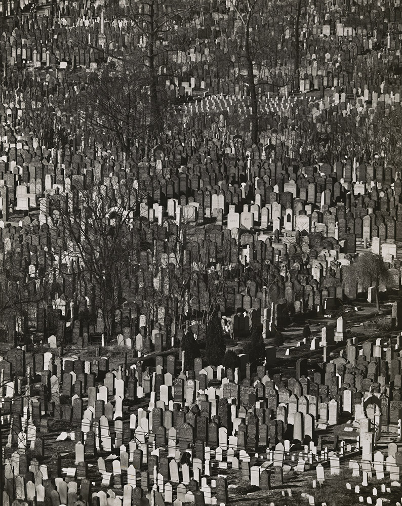 Andreas Feininger - Cemetery, Queens, New York