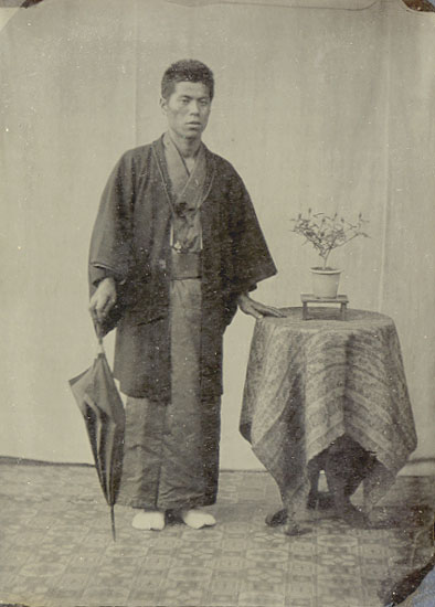 Anonymous (Japan) - Japanese Man with Umbrella