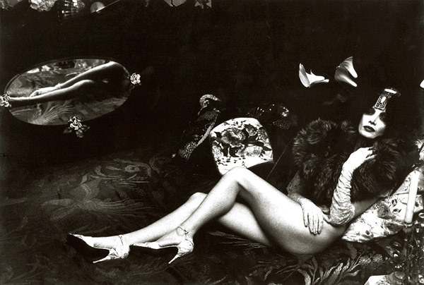 Irina Ionesco - Female Nude with Fur and Mirror Reflection