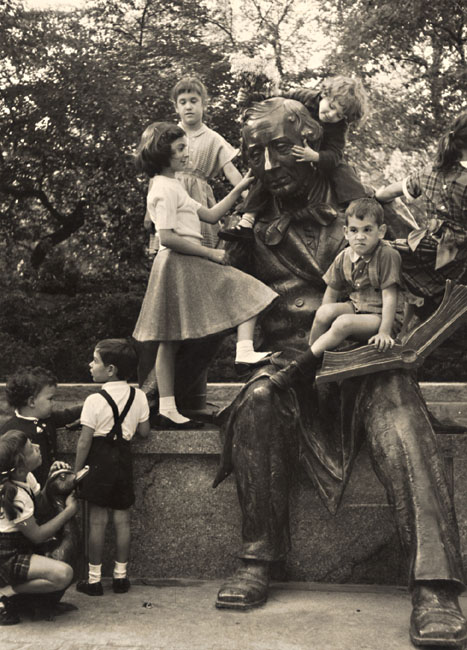 F. Bedrich Grünzweig - Children and Statue of Hans Christian Anderson, Central Park, New York City, NY